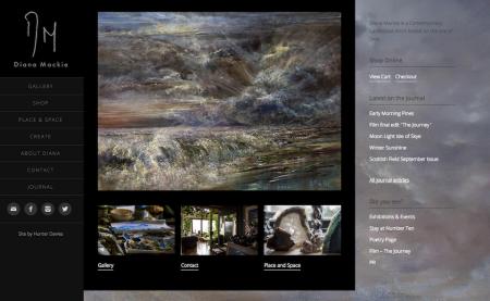 Diana Mackie-webpage-screenshot