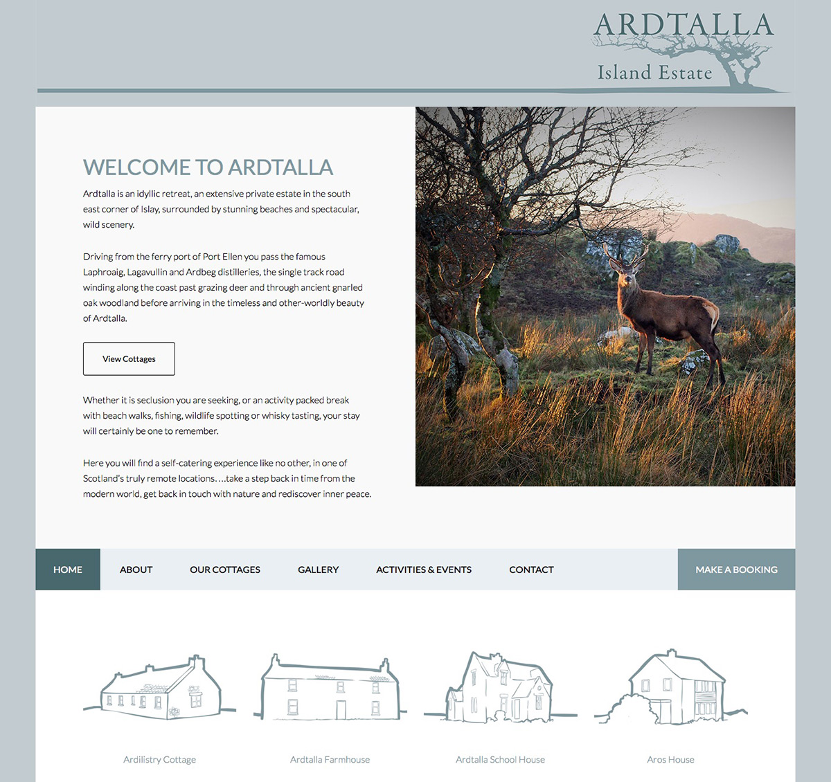 Ardtalla Estate Islay Website by Skyewebsites