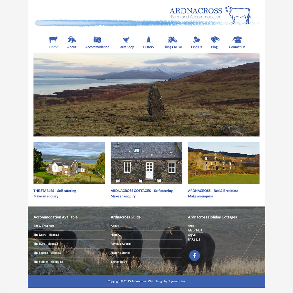 Ardnacross Farm cottages on Mull website