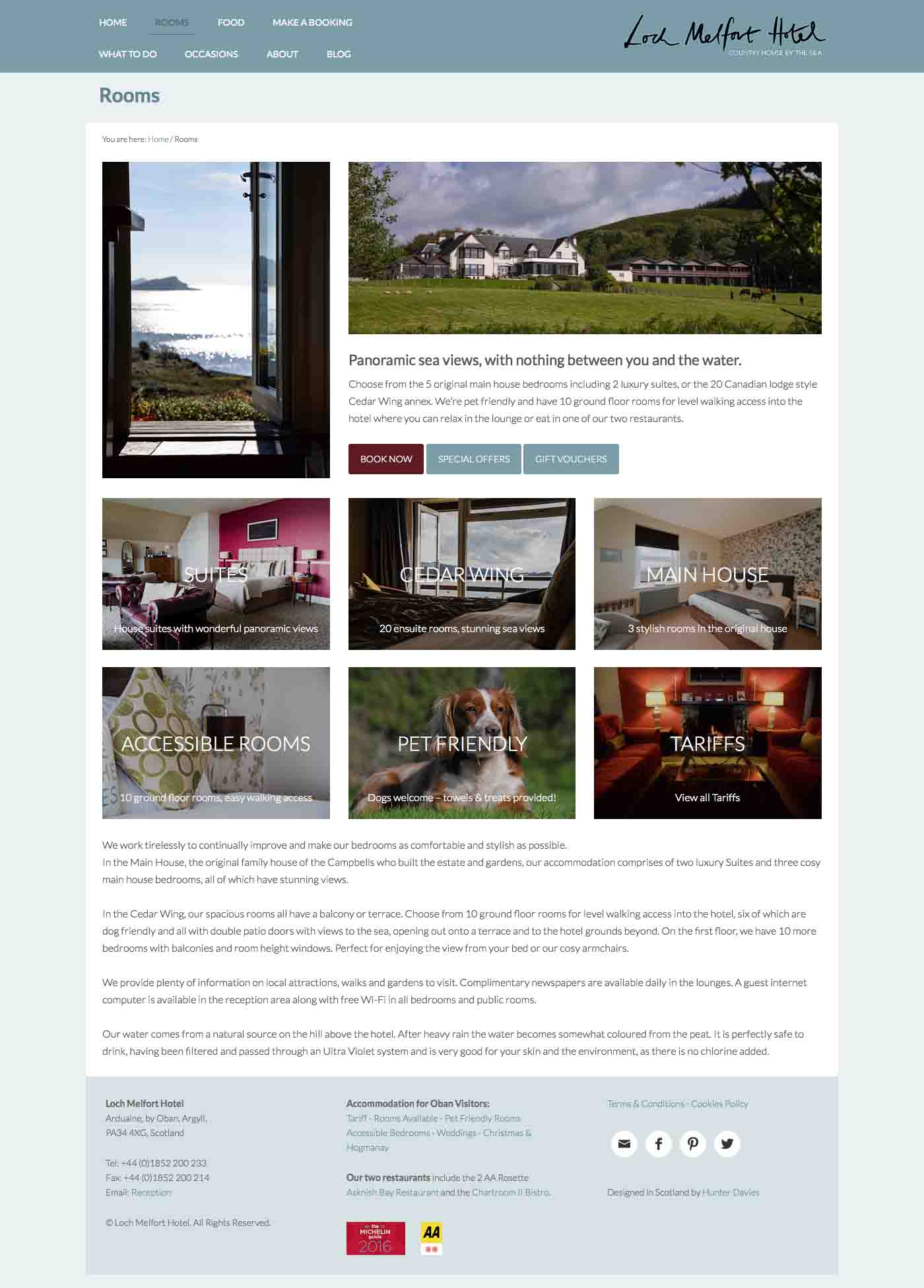 Rooms - Loch Melfort Hotel