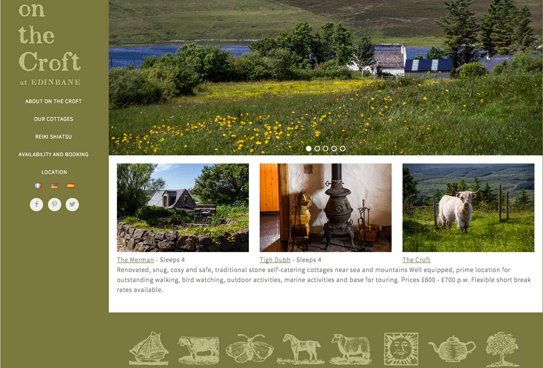 Edinbane self-catering on the croft homepage, Projects, Skyewebsites