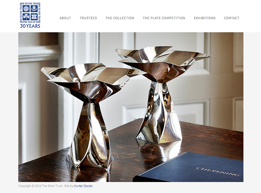 The Silver Trust - website for Silversmith Collection Charity