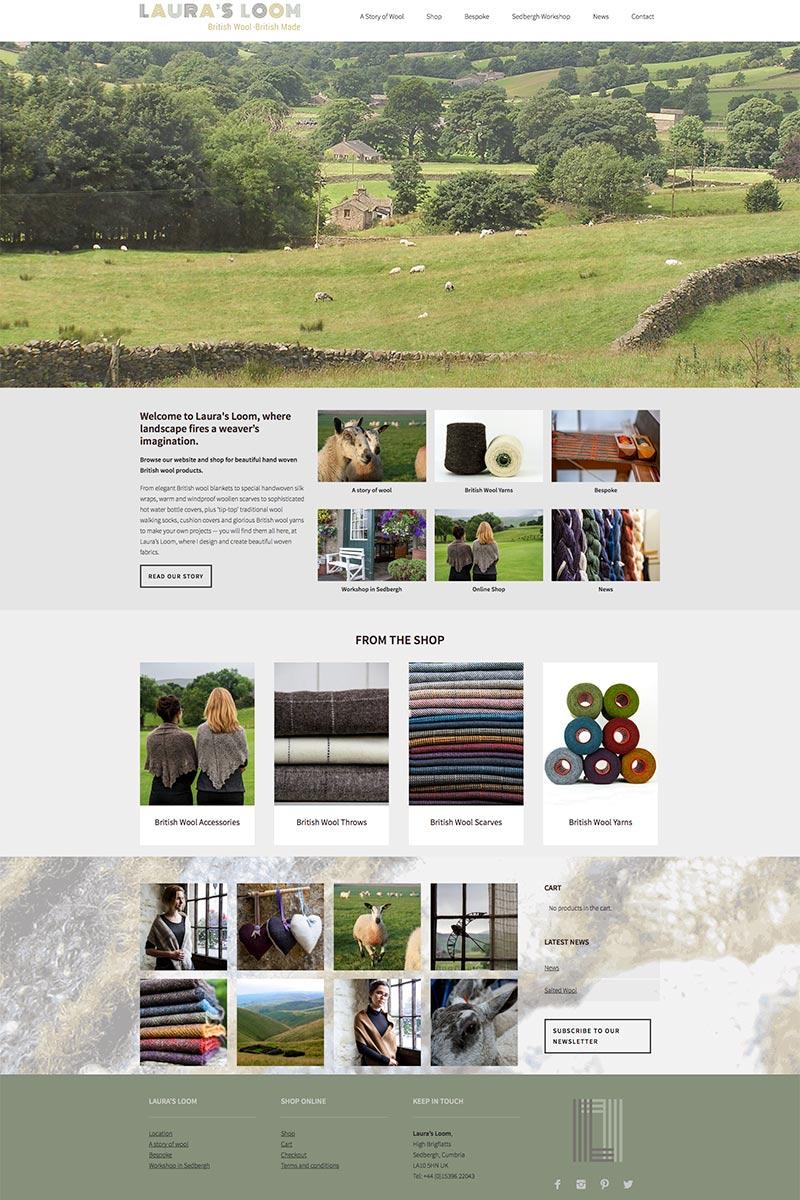 Skye Websites, Laura's Loom, Project Overview