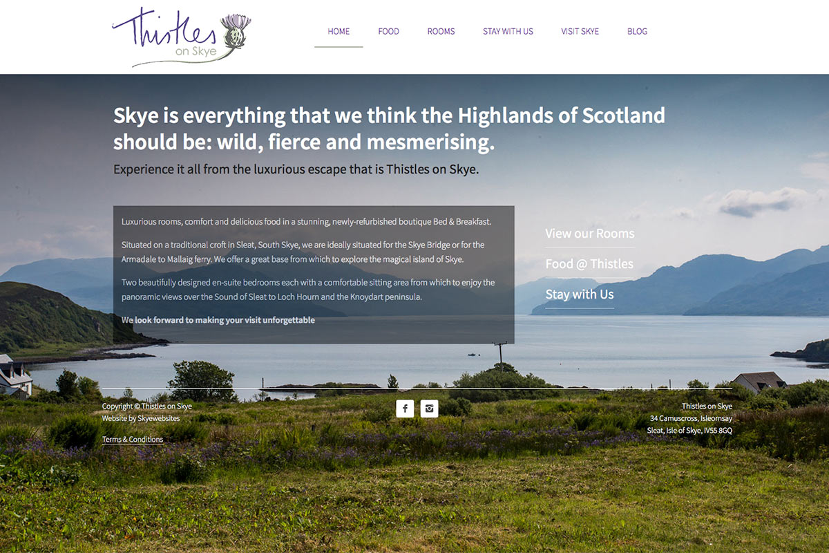 Thistles on Skye, Homepage, Skye Websites