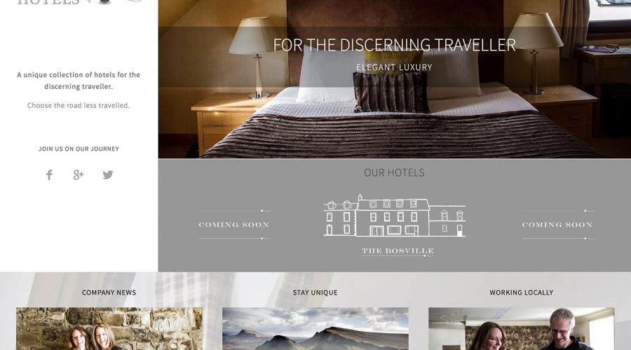 Perle Hotels, Isle of Skye, Skye Websites, Screenshot