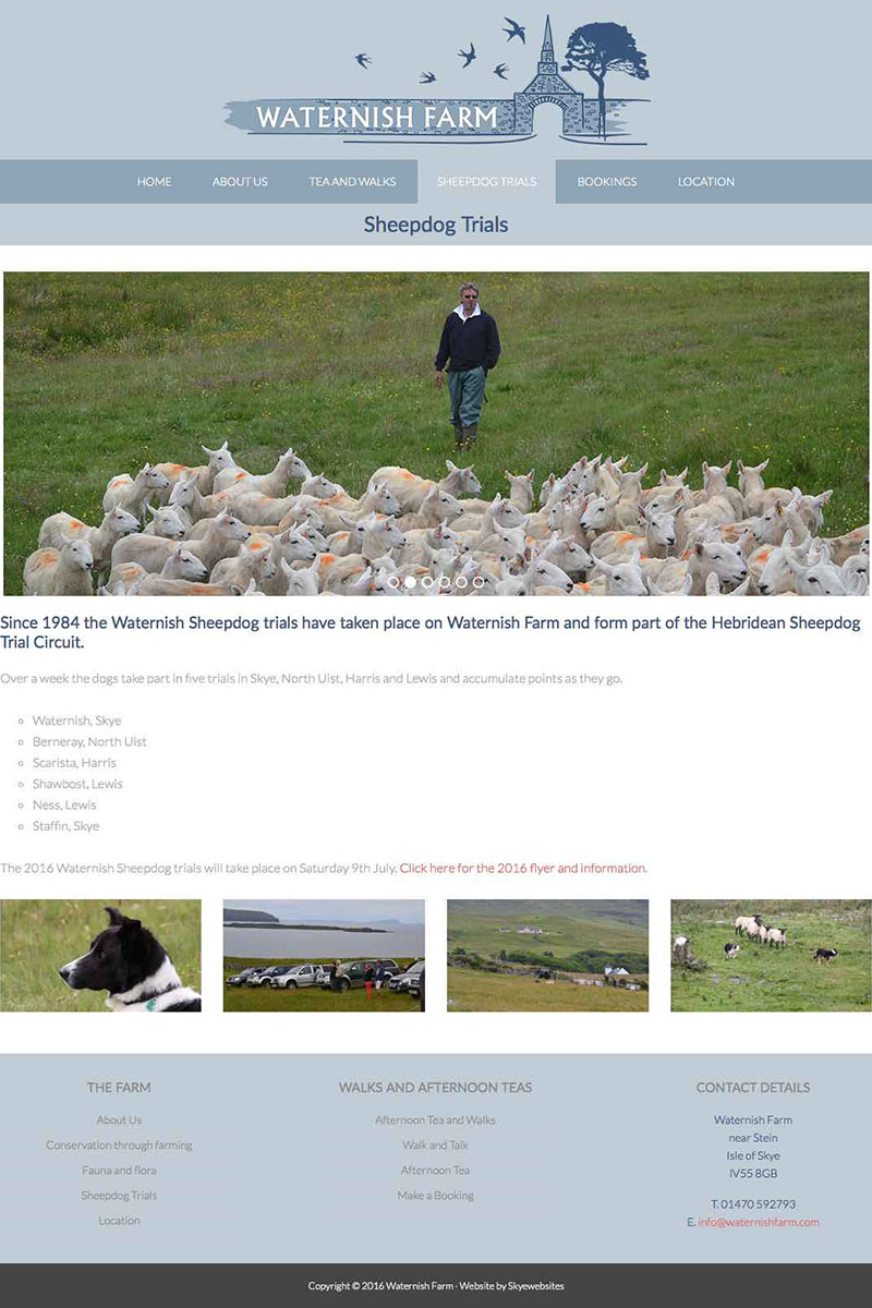 Waternish farm Sheep Dog Trials, Skyewebsites
