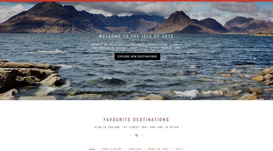 Whats on skye , Homepage, Skye Websites
