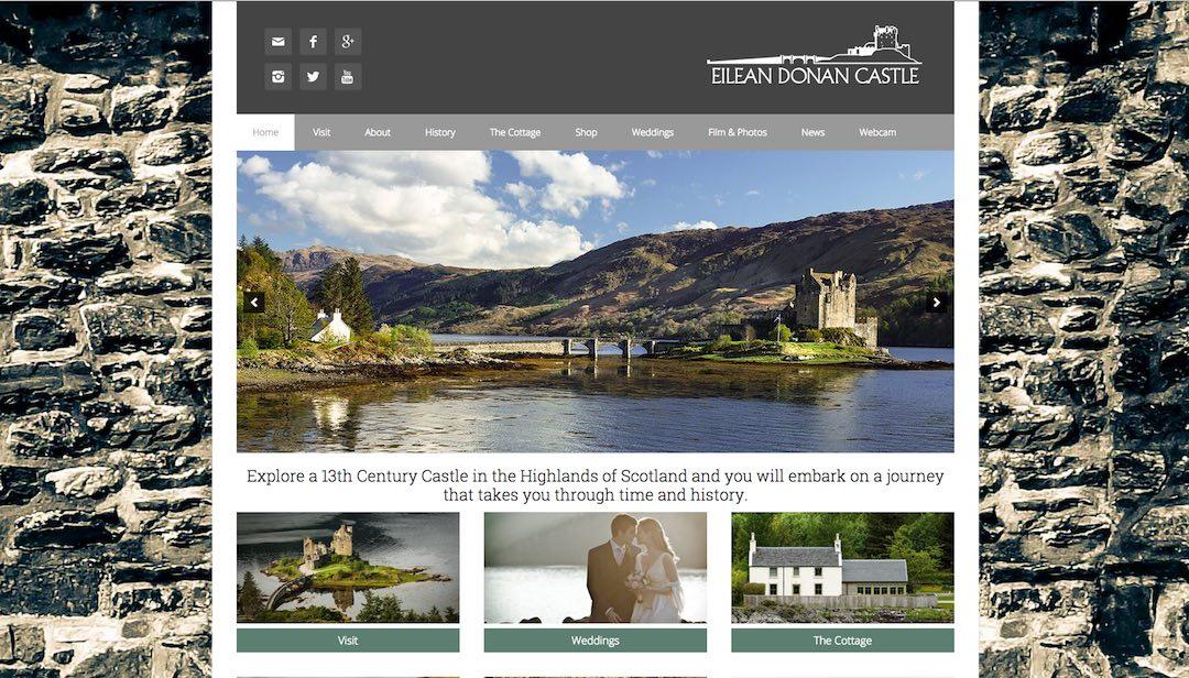 eilean donan website homepage skyewebsites