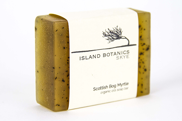 scottish bog myrtle soap bar, island botanics, skye