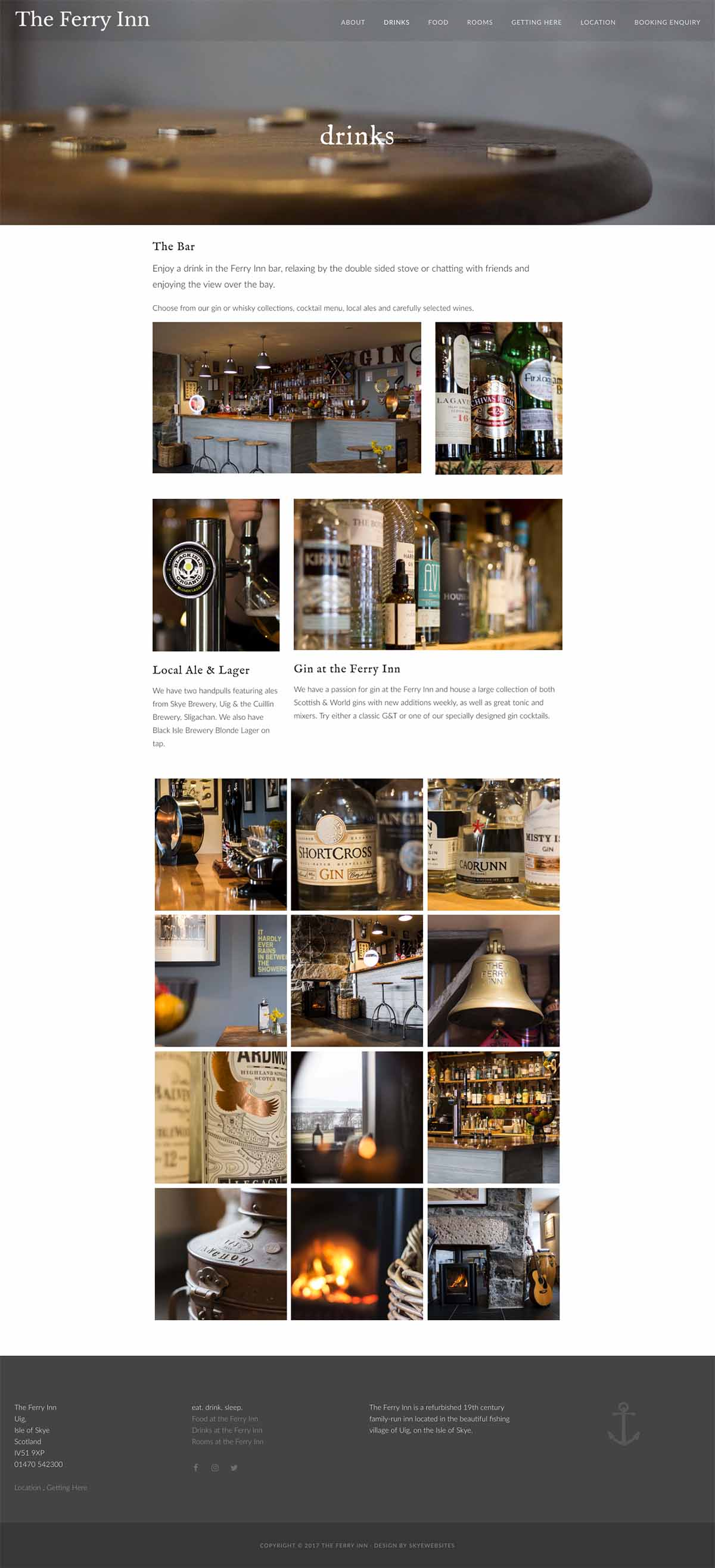 skyewebsites-ferry-inn-drinks-page